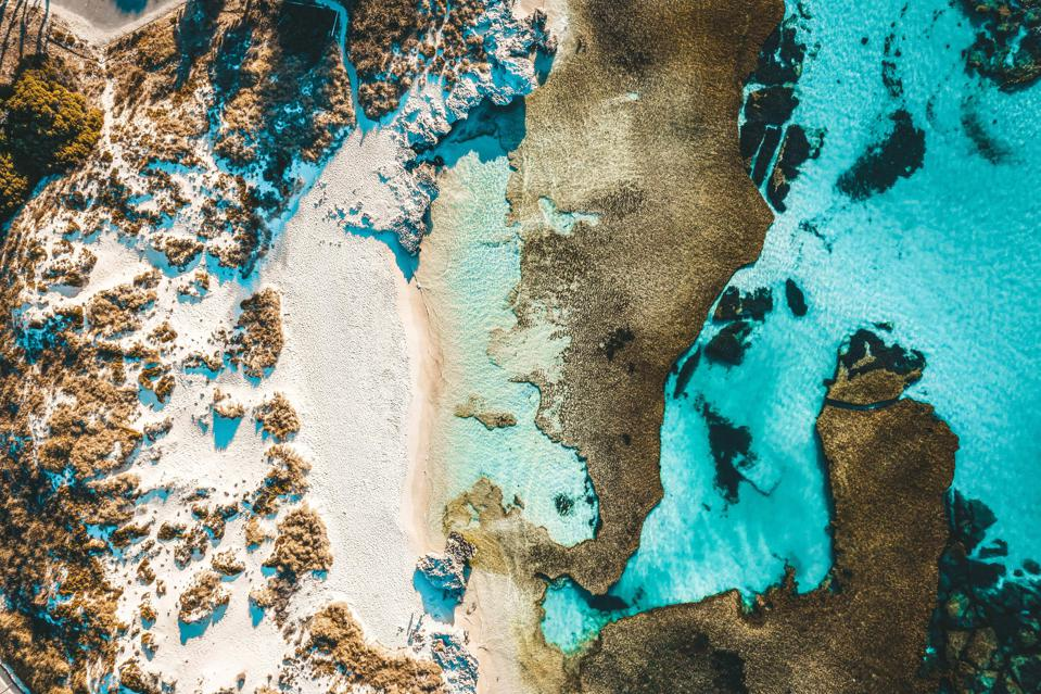 Aerial view of The Basin, Rottnest Island