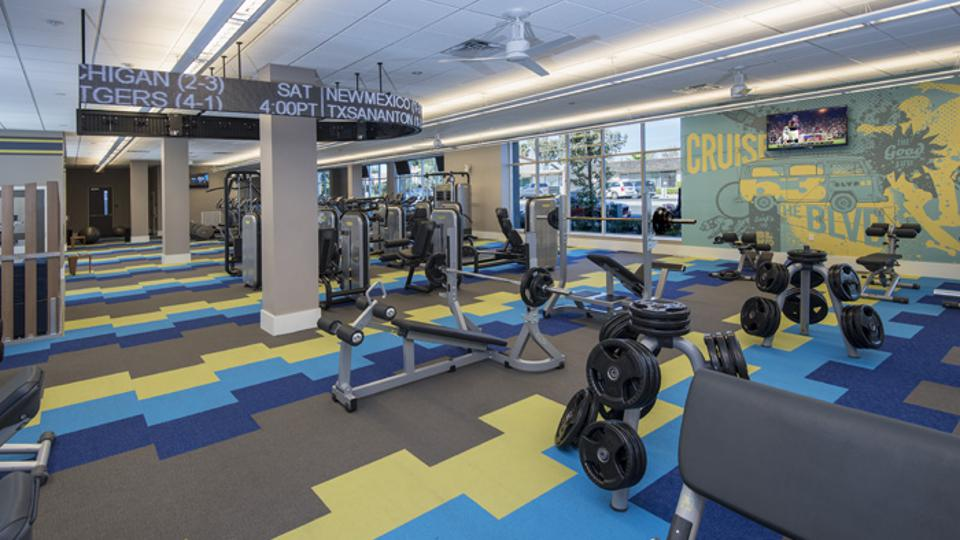 San Diego State University Student Housing Workout Facility