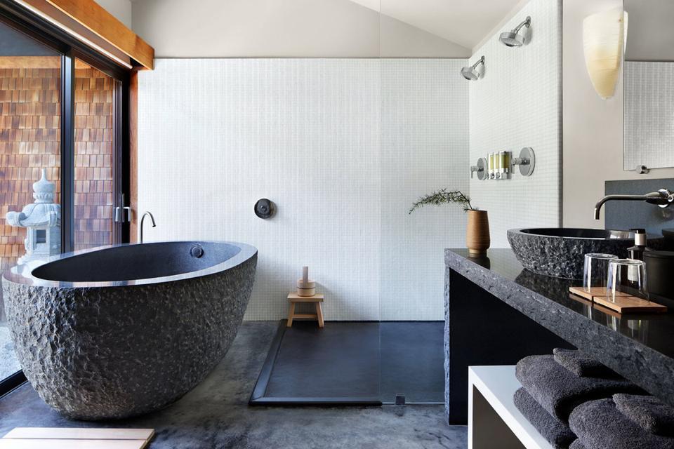 Zen Suite Bathroom at Gaige House & Ryokan