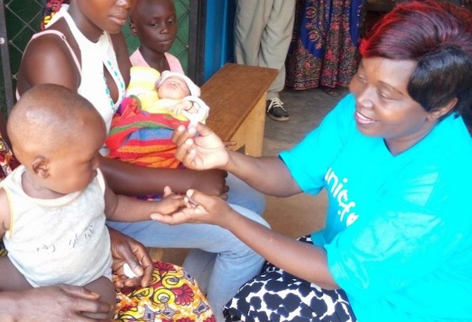 Dr. Mauricette Deballe cares for mothers and children at the UNICEF Bossangoa Field Office in the Central African Republic.