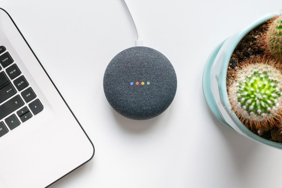 Google home mini smart speaker with built in Google Assistant