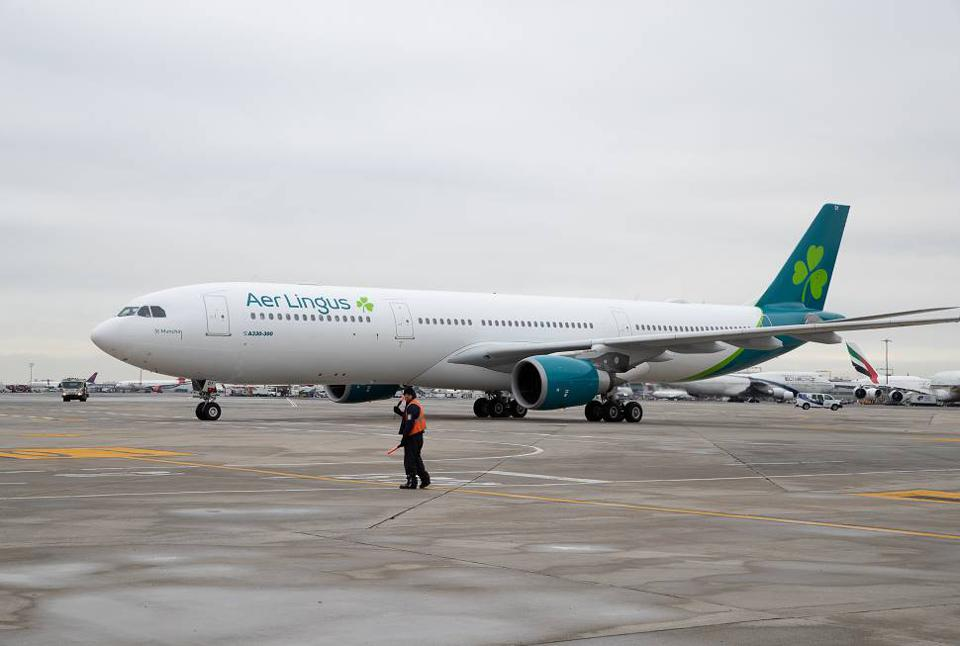 Aer Lingus aircraft on ground.