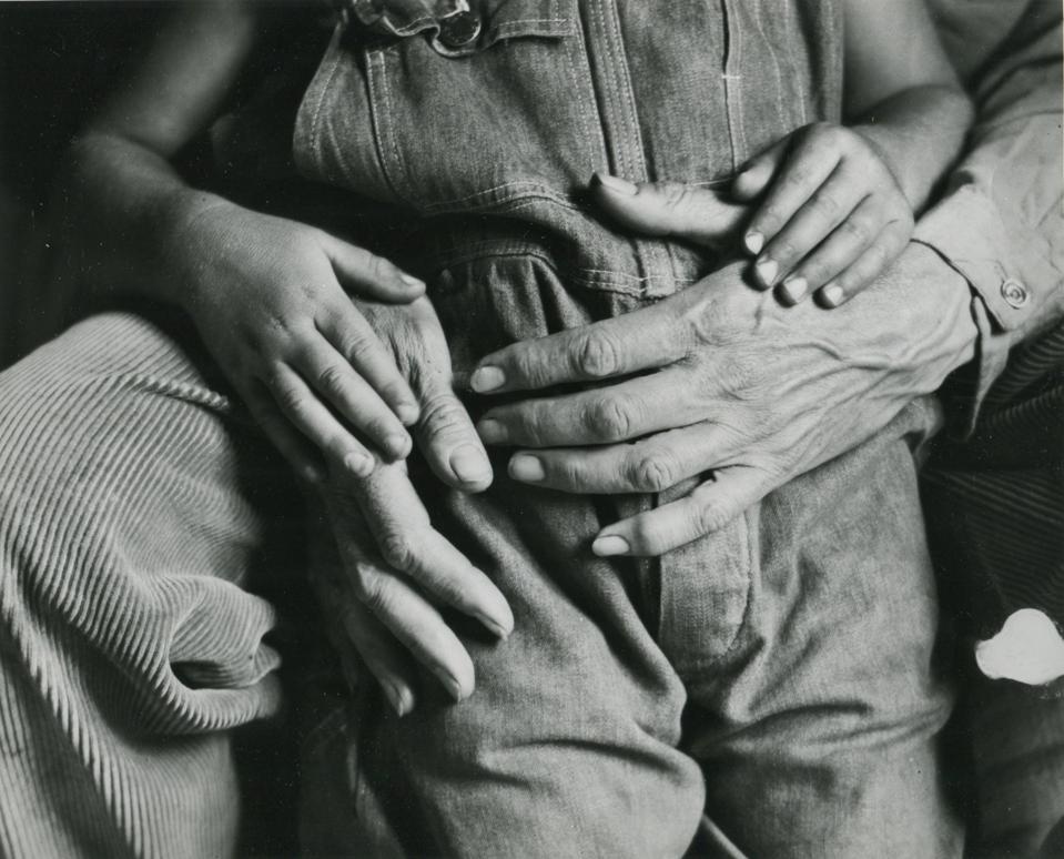 Dorothea Lange, Hands, Maynard and Dan Dixon, California, 1930.