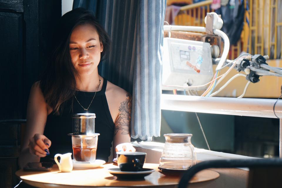 Sahra Nguyen at Vietnam Coffee Republic