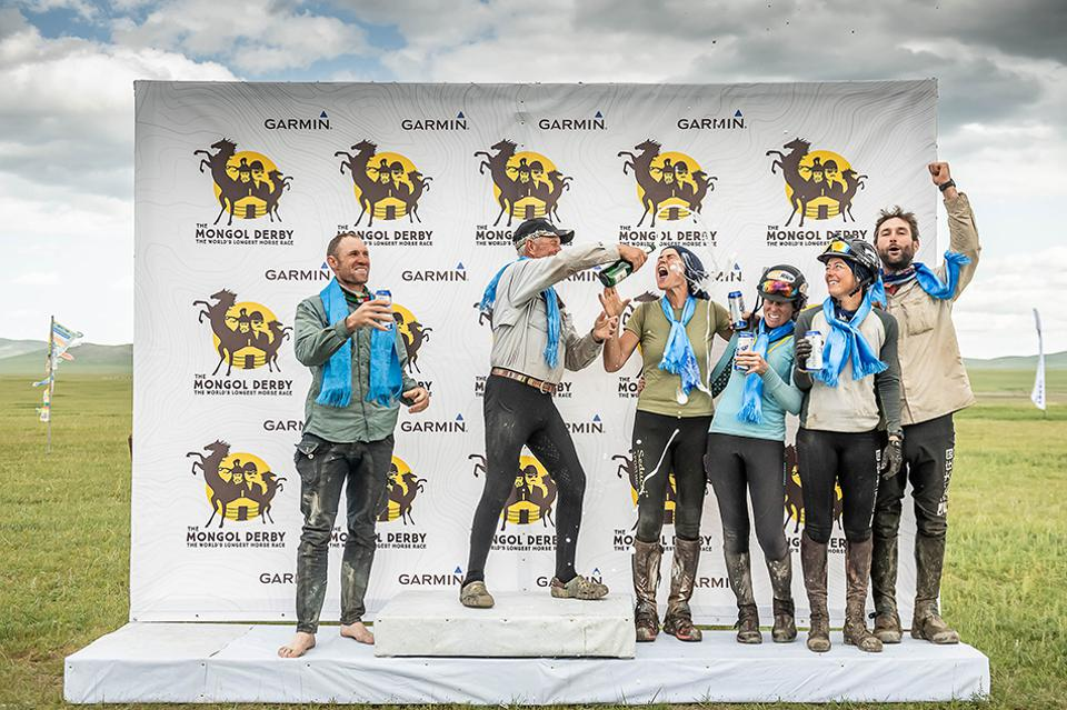 Winners of the 2019 Mongol Derby