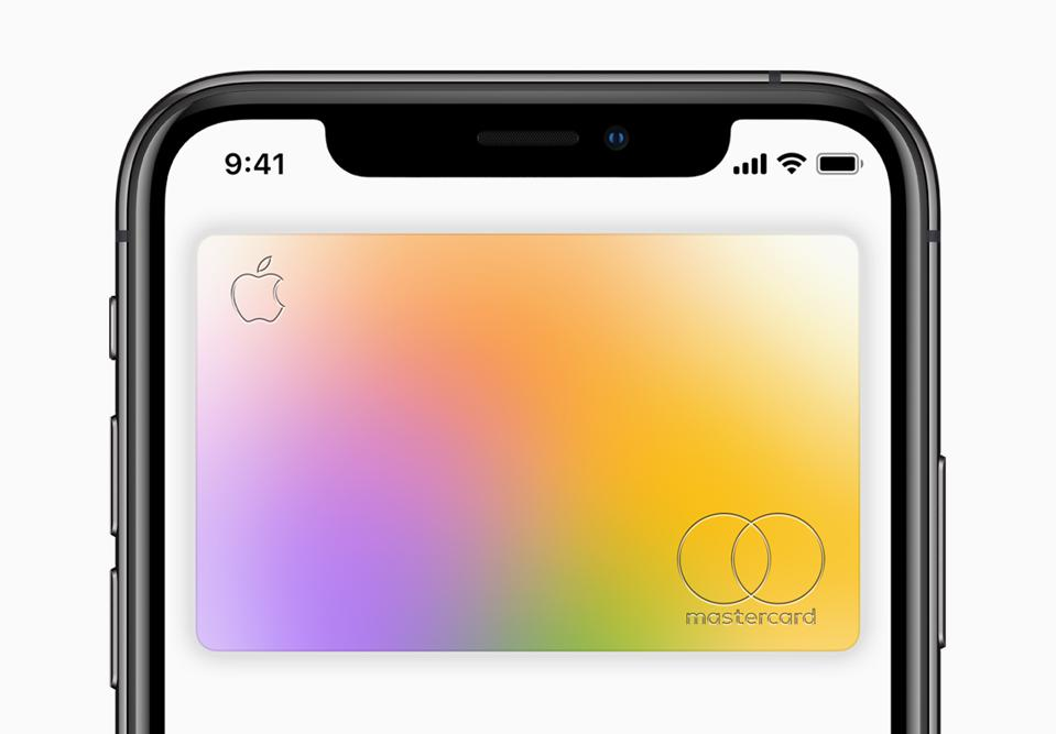 Apple Card: the digital version on your phone.