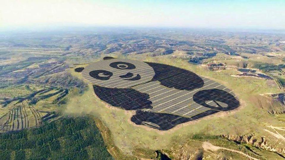 Panda solar PV array