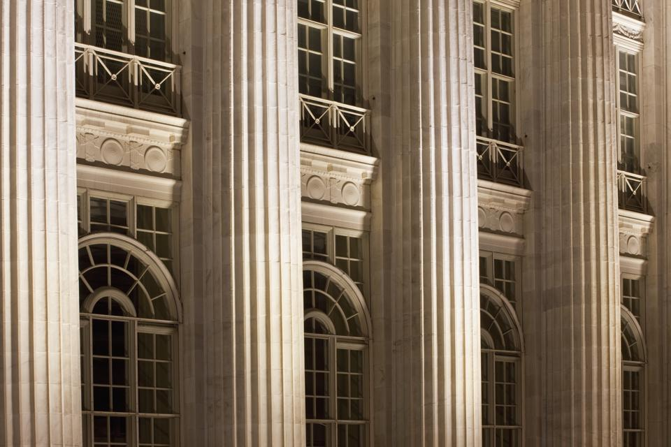 Columns on a Courthouse Building