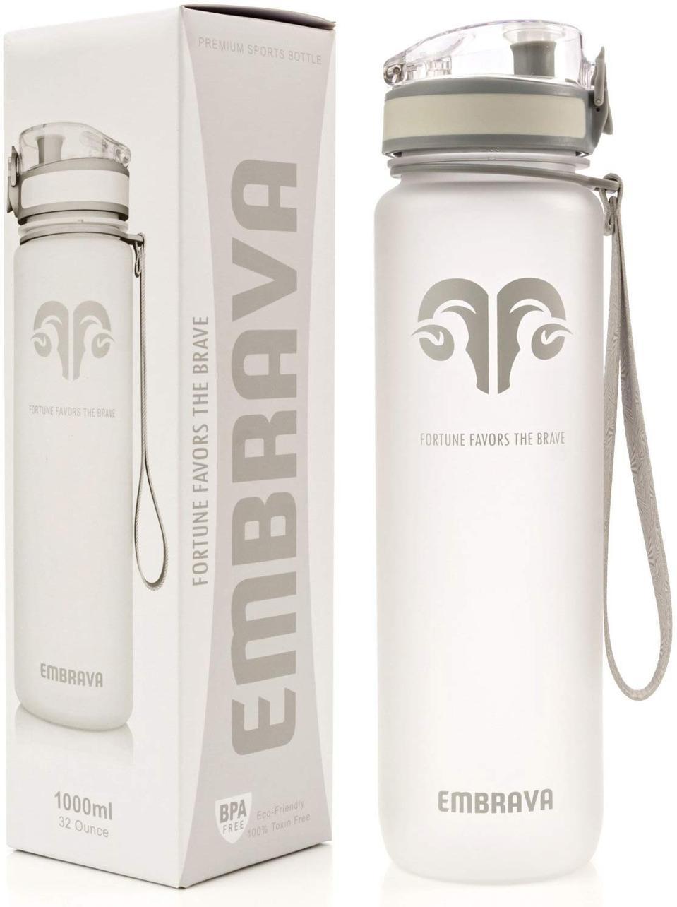 Embrava Flip Top Sports Water Bottle