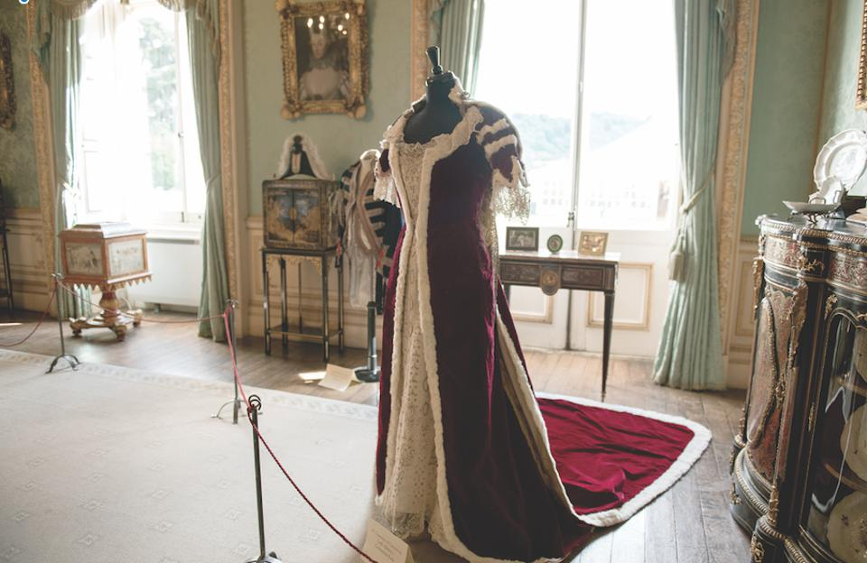 Lady Almina's coronation robe, which was recently restored.