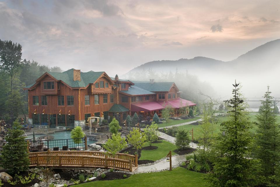 Whiteface Lodge is set in a very pristine location.