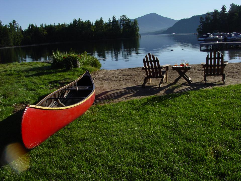 The Whiteface Lodge Canoe Club attracts adventurous visitors.