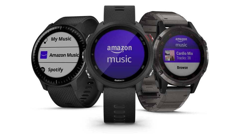 Amazon Music app on Garmin smartwatches