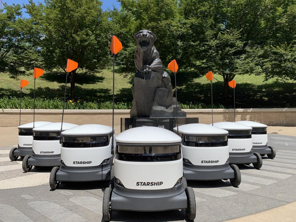 Recession Indicators In Amazon's Stock Price; Food-Delivery Droids Coming To A Campus Near You; Inside China's $15 Billion Face Mask Market