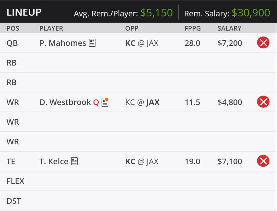 The beginning of our Week 1 lineup