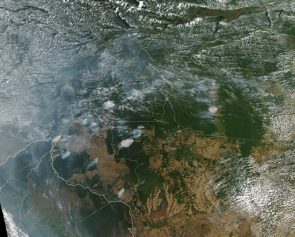 Amazon wildfire smoke