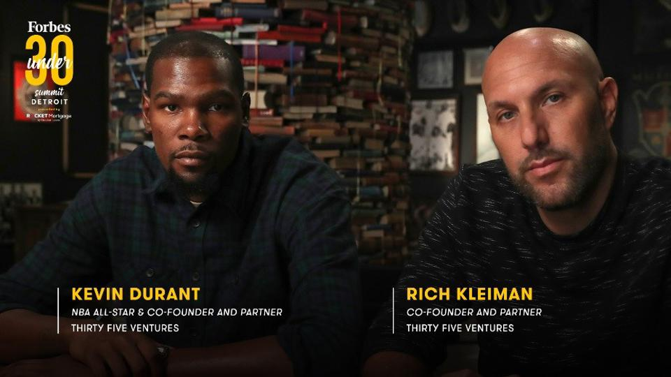 NBA All-Star Kevin Durant And His Thirty Five Ventures Partner Rich Kleiman