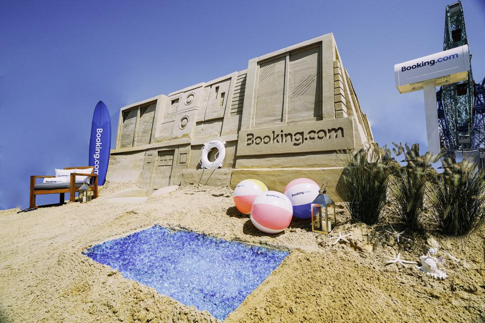 You can sleep in New York City's largest sandcastle.