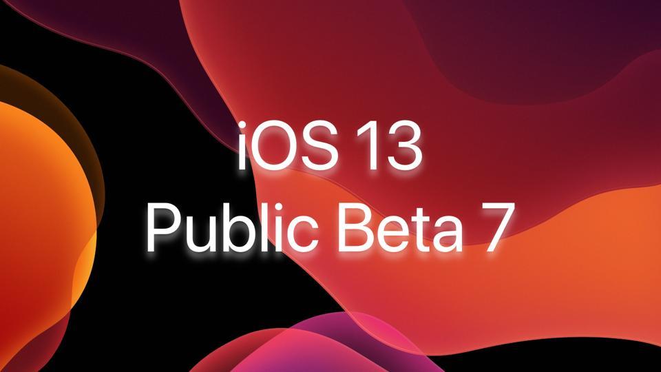 iOS 13 Beta 7 is here!