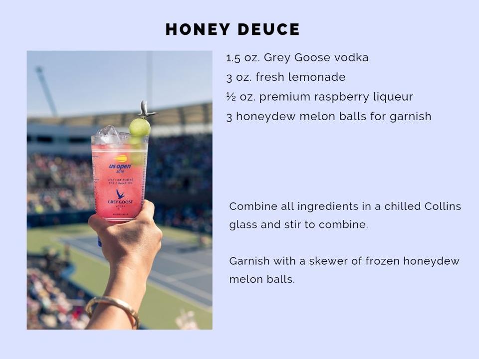 The Honey Deuce Recipe.