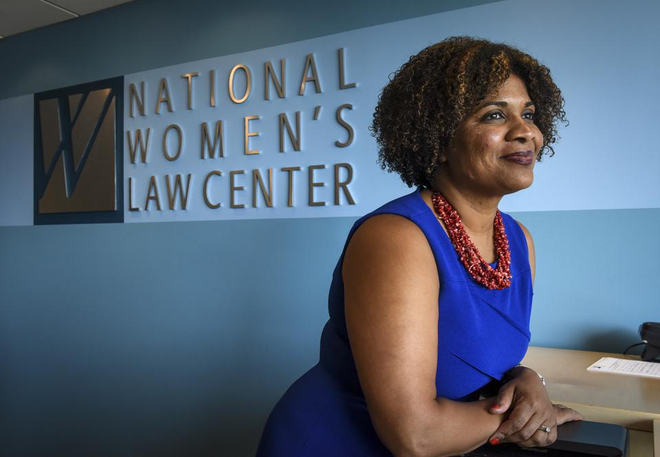 Debra Katz and the new president and CEO of the National Women's Law Center, Fatima Goss Graves(CQ), in Washington, DC.