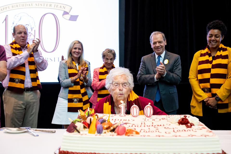 Celebrity Health: Sister Jean party