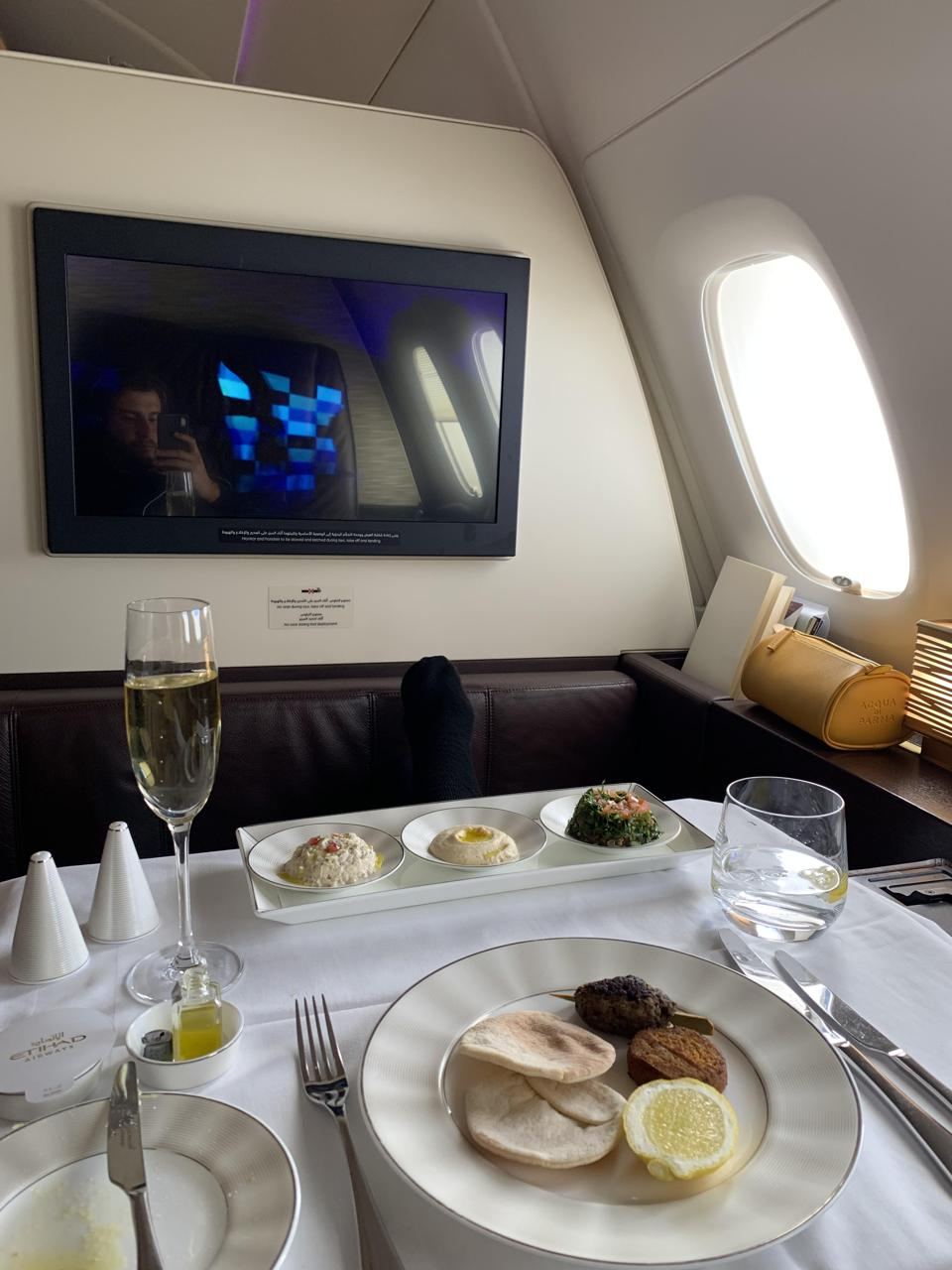 First class suites on a plane.