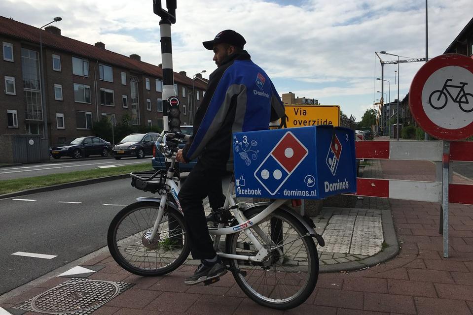 E-bikes delivering food.