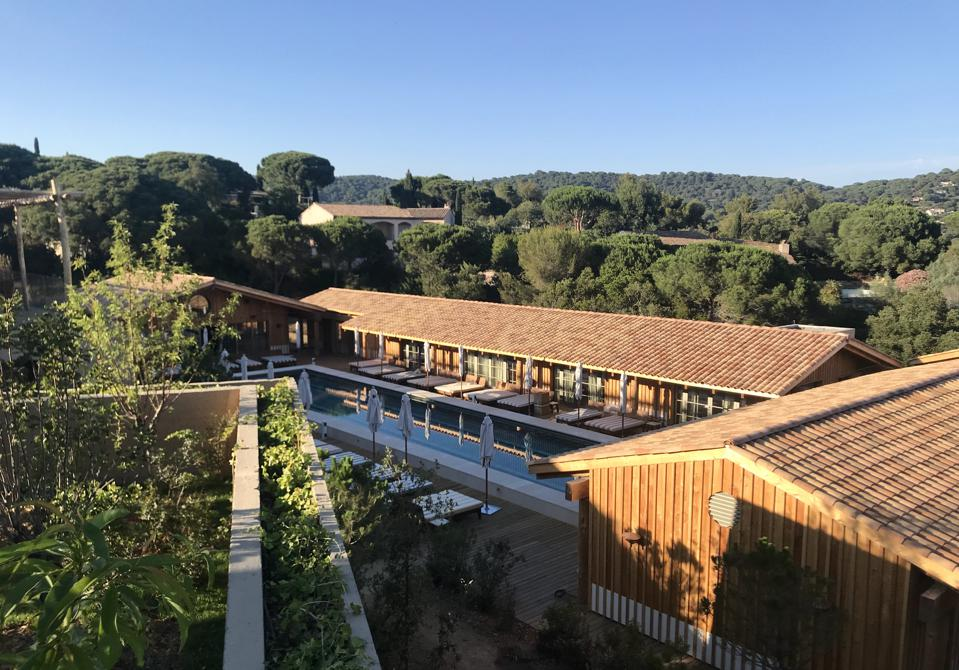 Wellness center Le Village from above