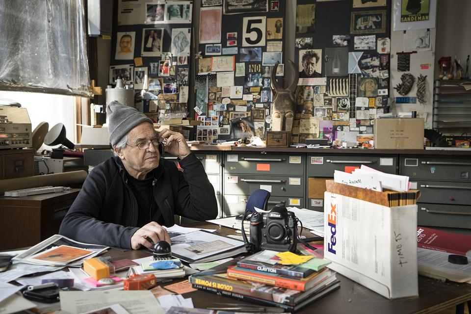 Jay Maisel in his office at 190 Bowery