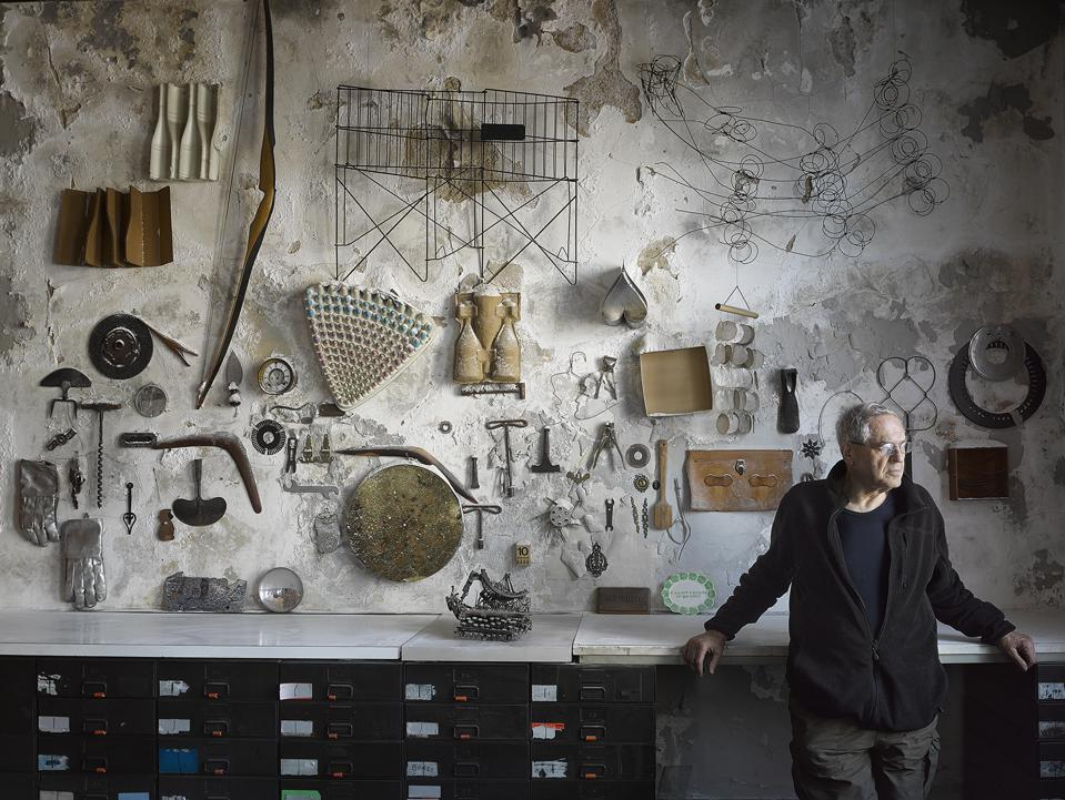 Objects grouped by Jay Maisel in his office at 190 Bowery