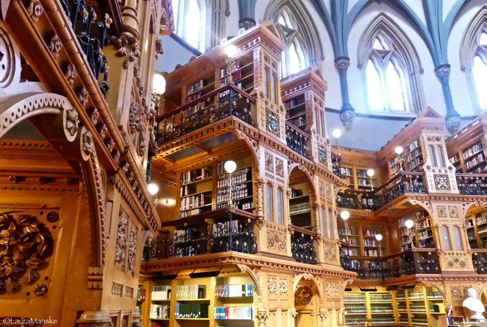 Library, Parliament, Ottawa, Canada.