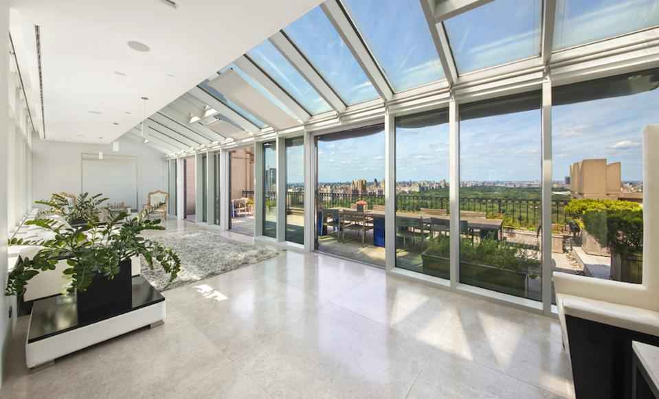 Now asking $49 million, this unit comes with a solarium
