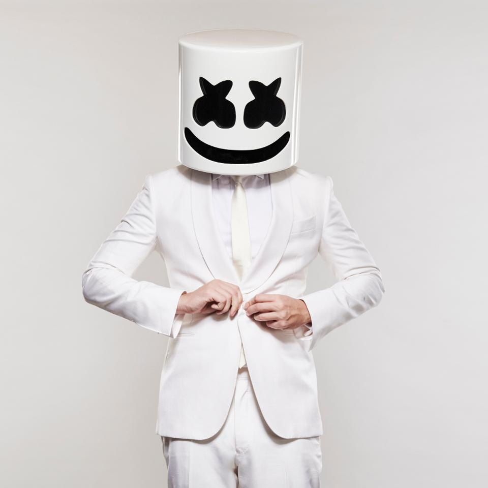 "Marshmello's crossover hits include ""Happier"" with Bastille and ""Wolves"" with Selena Gomez"