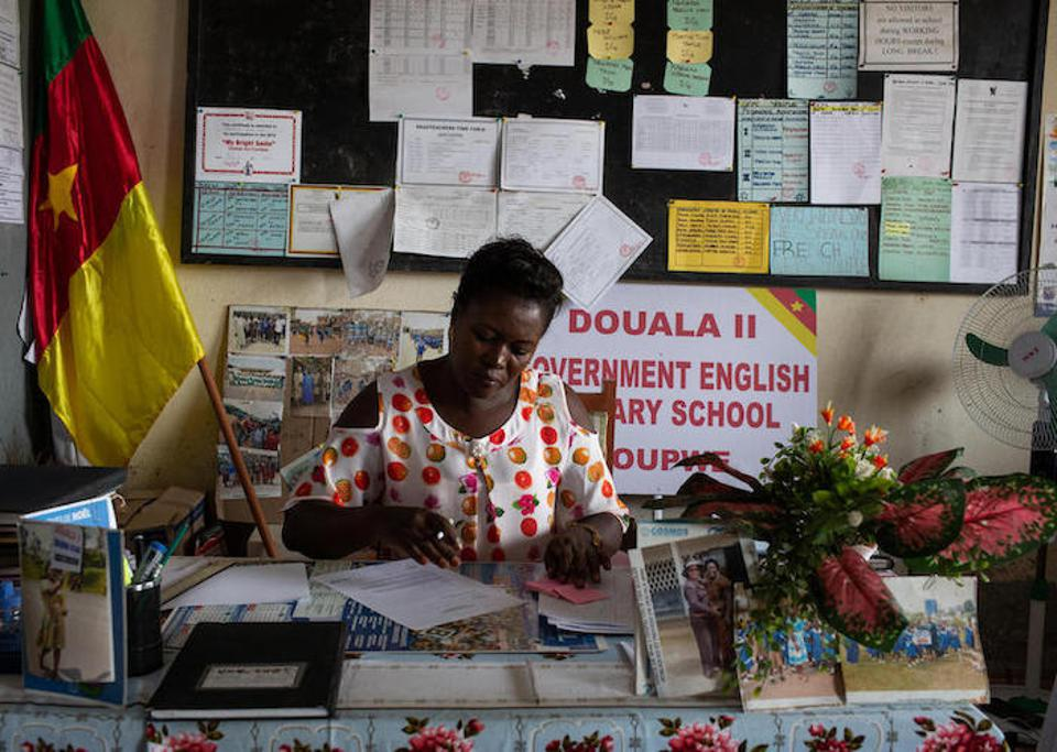 Delphine Bikajuri is principal of GEPS Youpwe, a government primary school in Douala, Cameroon. Her daughter was kidnapped from her high school along with 150 other students.