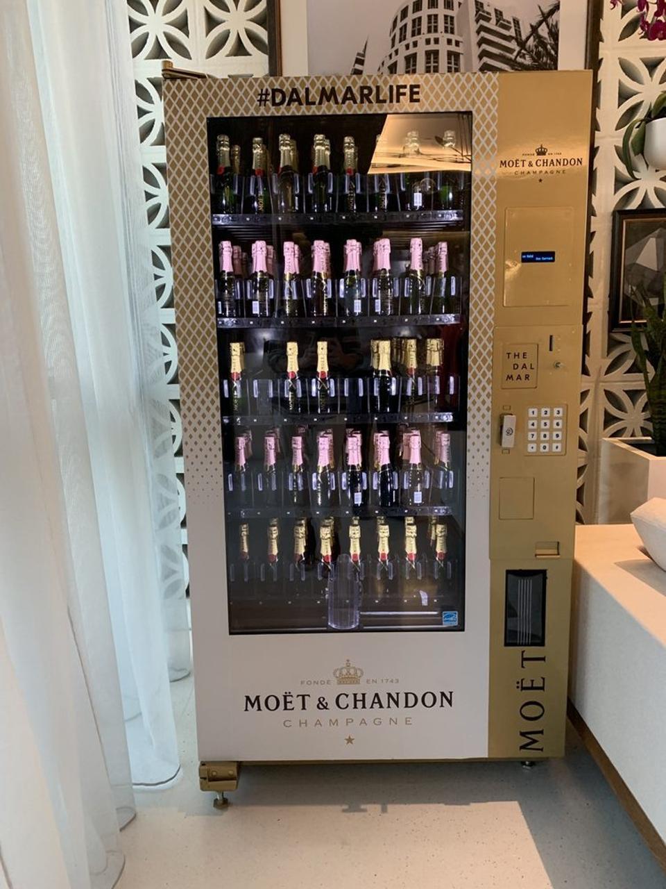 Champagne vending machine.