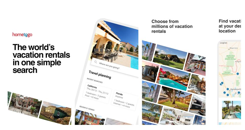 Screen shot of a vacation rental app to illustrate a story about the best vacation rental apps in the world.