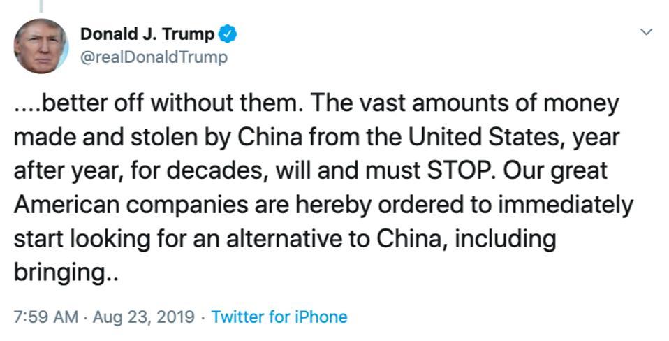 Trump S Tweets Cost Investors Over 500 Billion