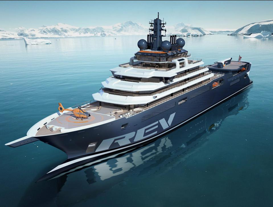The 600-foot-long REV will become the world's largest privately owned superyacht.