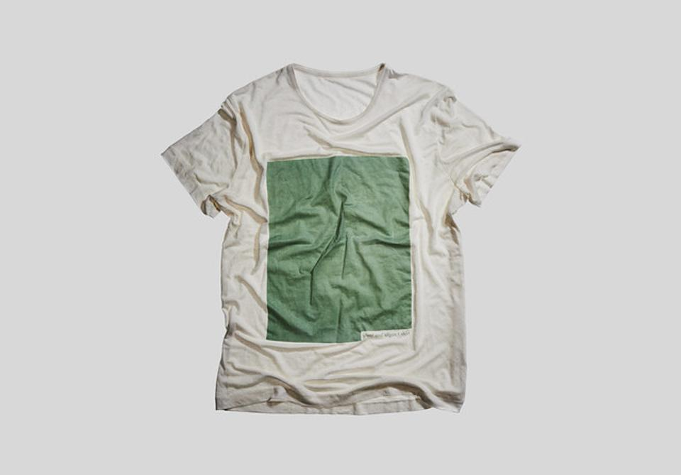 This 100% biodegradable t-shirt is created and grown from water and soil.