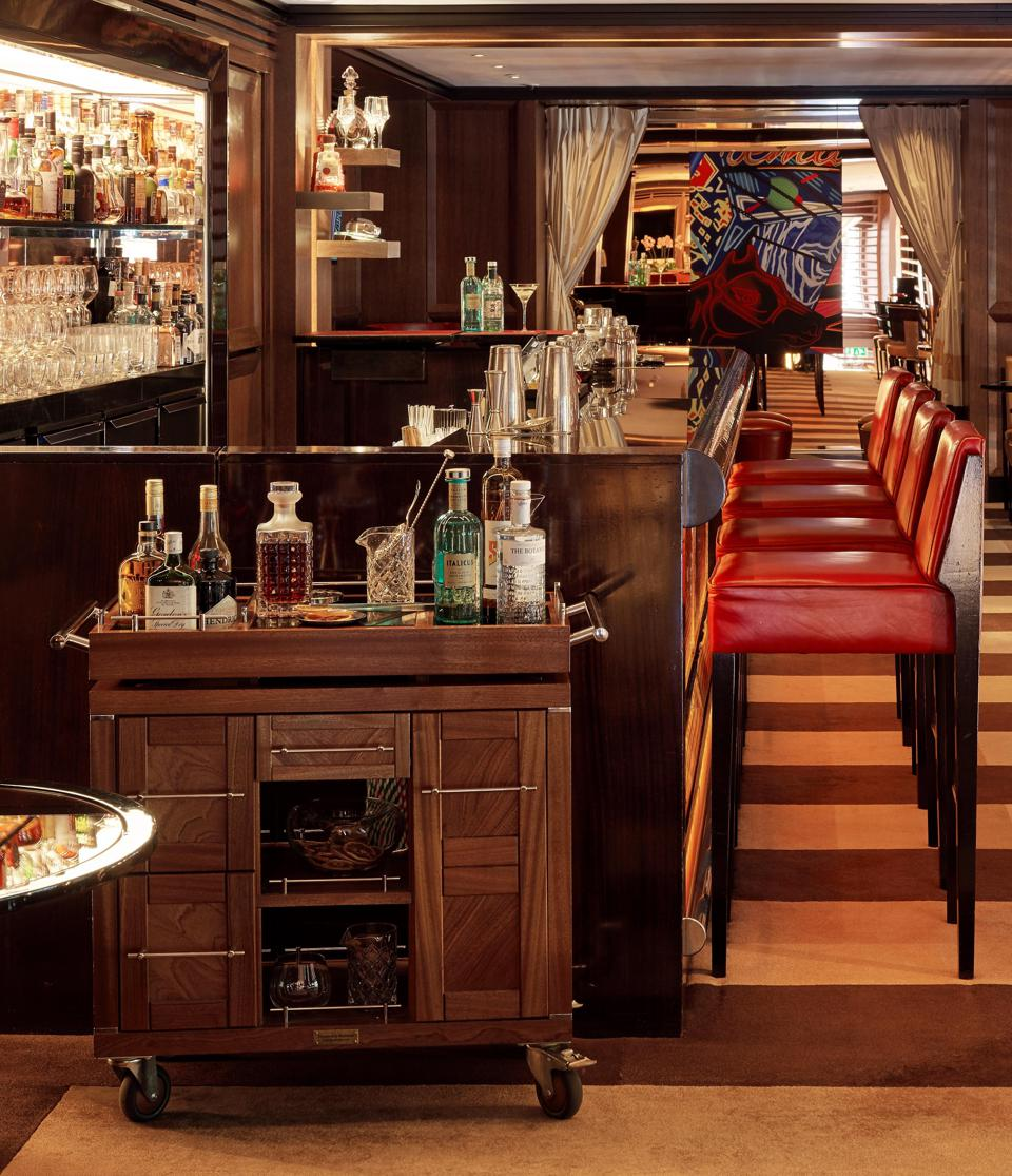 Inside the Bar and the Negronis Trolley.