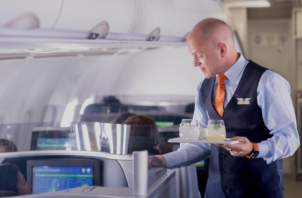 Customer service in JetBlue's Mint class of service
