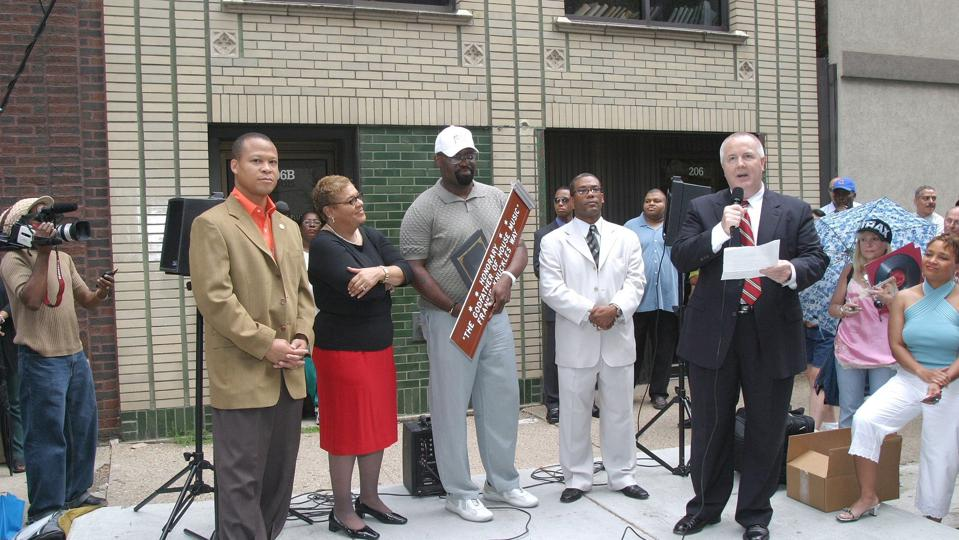 The inaugural Frankie Knuckles Day ceremony in 2004.