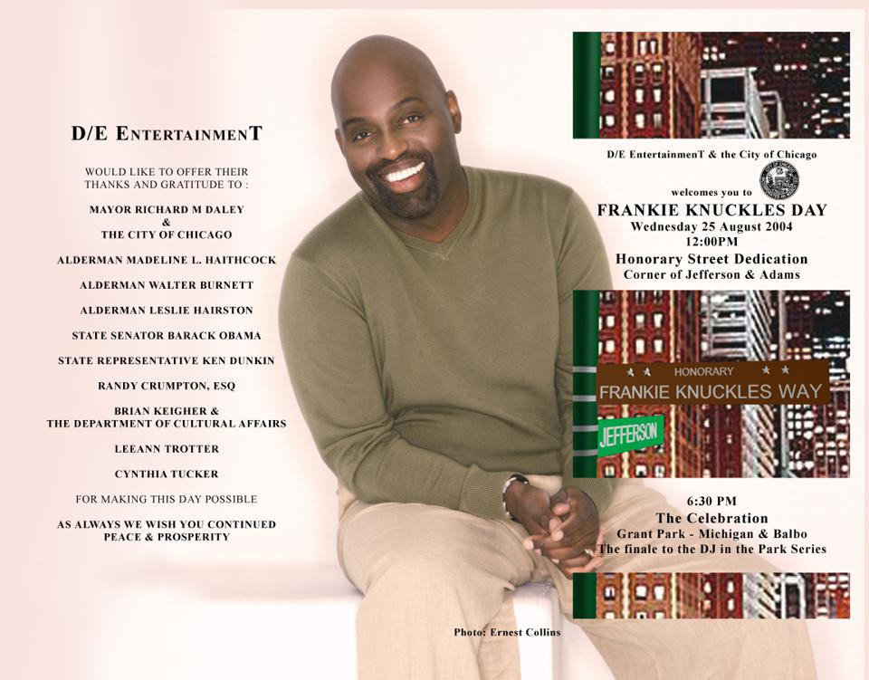 Frankie Knuckles Day Program, 2004