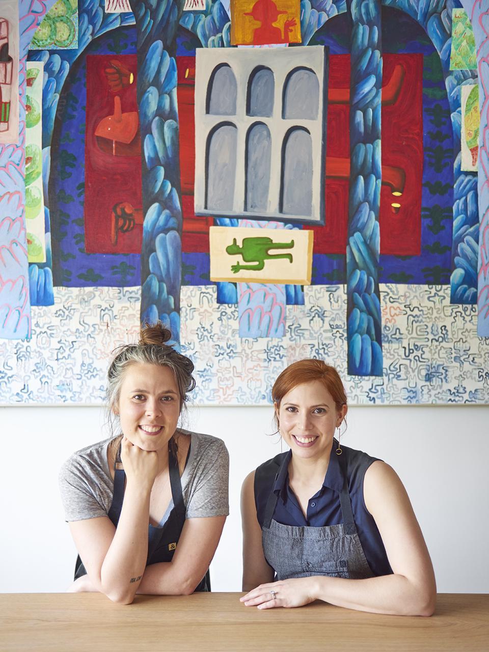 Chefs Bronwen Kinzler-Britton and Meryl Feinstein