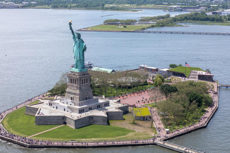 Liberty Island with its new museum.