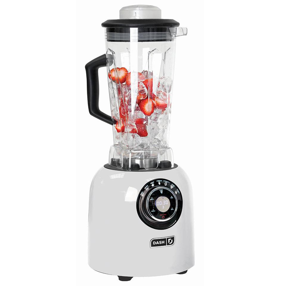 Many small appliances, such as this blender by Dash Appliances are available in white, along with a host of other colors.