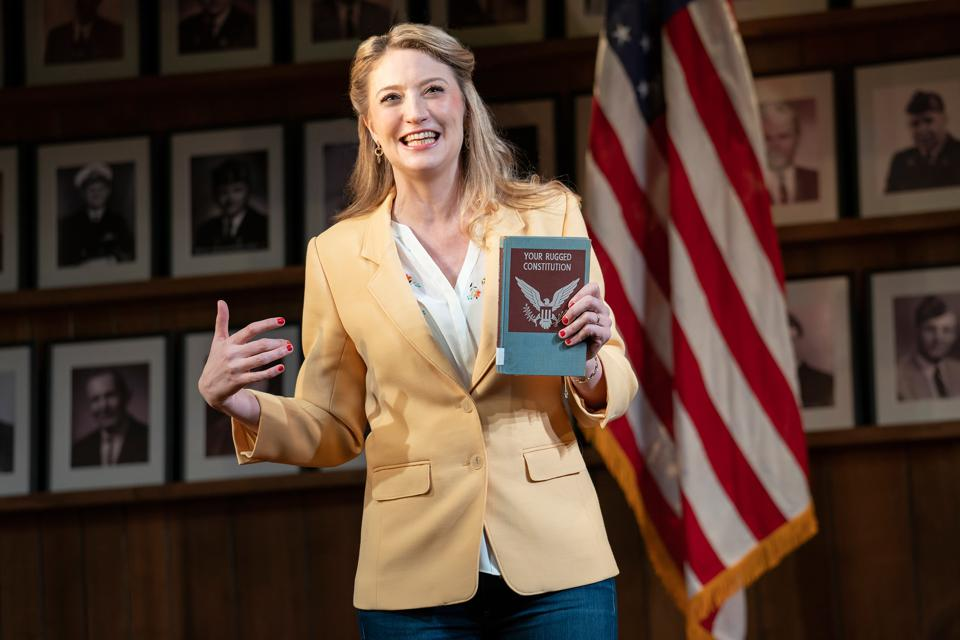 Heidi Schreck in her record-breaking Broadway play 'What the Constitution Means to Me'