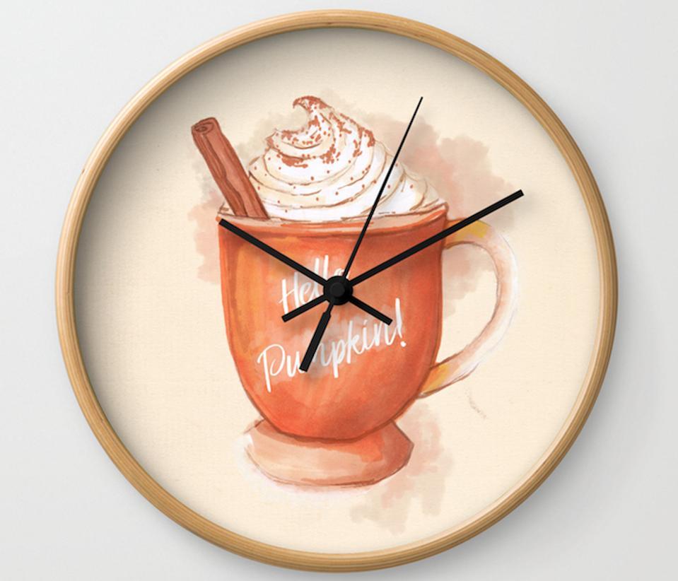 pumpkin spice latte clock