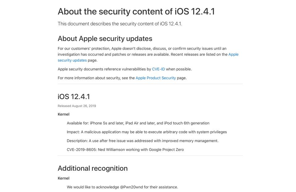 Apple Releases iOS 12 4 1, To Address Shock Security Flaw